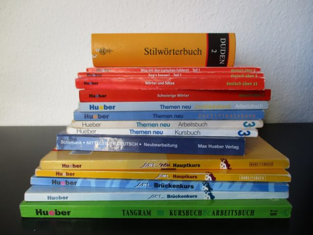 Use different types of study books and dictionaries to learn German