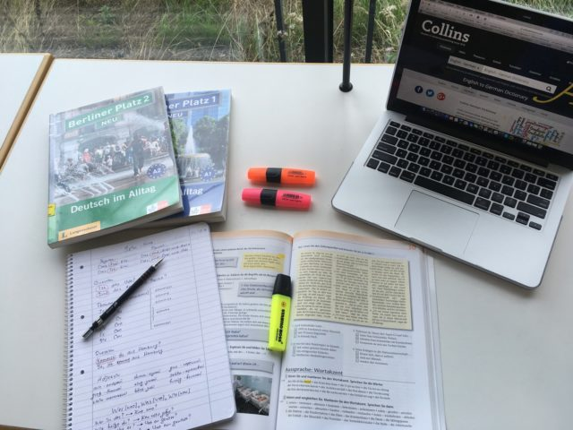 Prepare for German language exam by using different study methods